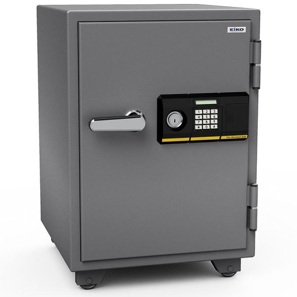 エーコー 家庭用小型耐火金庫 STANDARD 665PK (テンキー&シリンダー式) A4ファイル対応 1時間耐火 51L 棚板1枚 鍵付引出し1個 103kg