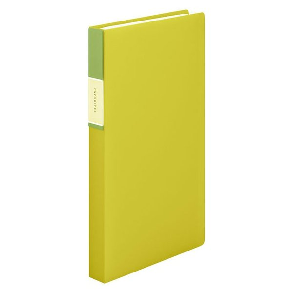 キングジム<KING JIM> フェイバリッツ 名刺ホルダー(透明) コンパクトタイプ 120ポケット 黄色 FV22Tキイ