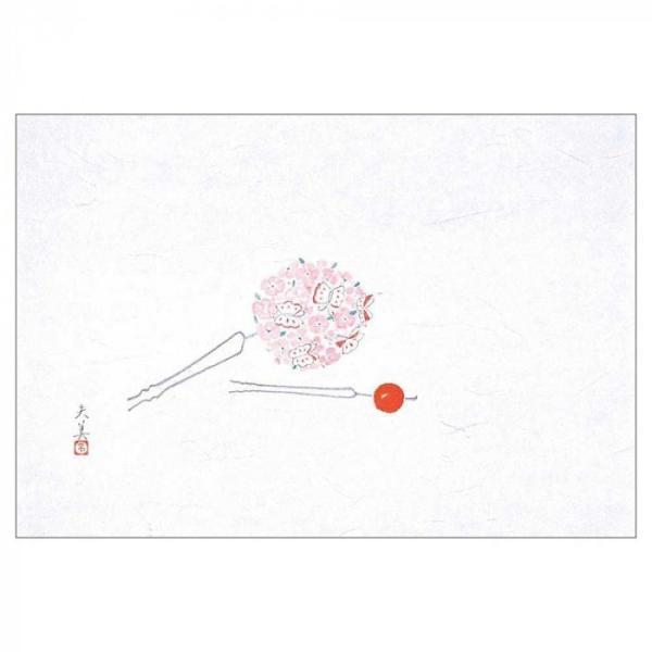 代引き不可 マイン(MIN)  四季紙 萬寿 花かんざし 100枚入 M33-104