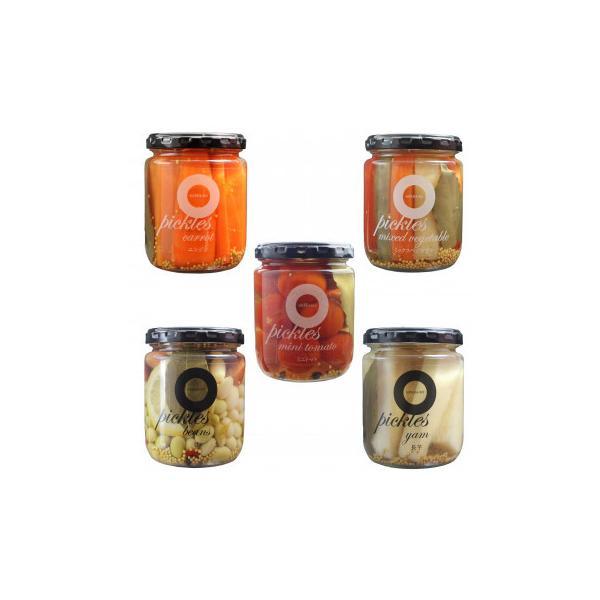 送料無料 代引き不可 ノースファームストック 北海道ピクルス5種 (ミックス野菜/北海道豆)×6 (長いも/ミニトマト/キャロット)×4