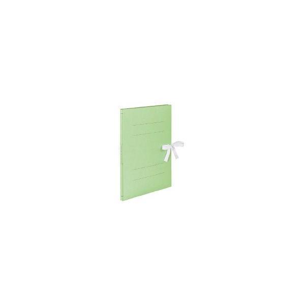 ガバットファイル(ひもとじタイプ)A4縦 1~100ミリとじ表紙ひも付きタイプ 緑 フ-MBH90G