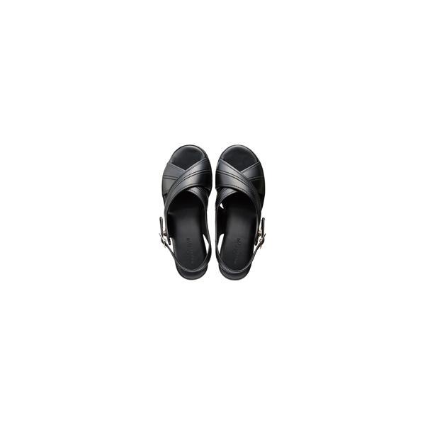 婦人ナースサンダル 黒 L ●サイズ/外寸法:約23cm  400925   ニッポンスリッパ