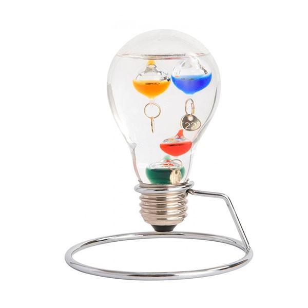 (同梱不可)茶谷産業 Fun Science ファンサイエンス ガラスフロート温度計 電球 333-208 プレゼント おしゃれ 浮き球