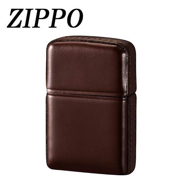 (同梱不可)ZIPPO 革巻 松阪牛 ブラウン