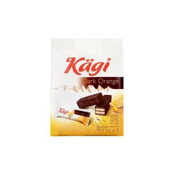 (代引不可) (同梱不可)Kagi(カーギ) チョコウエハース ミニダークオレンジバッグ 125g×12袋