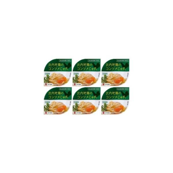 (代引不可) (同梱不可)こまち食品 比内地鶏のコンソメじゅれ 6缶セット