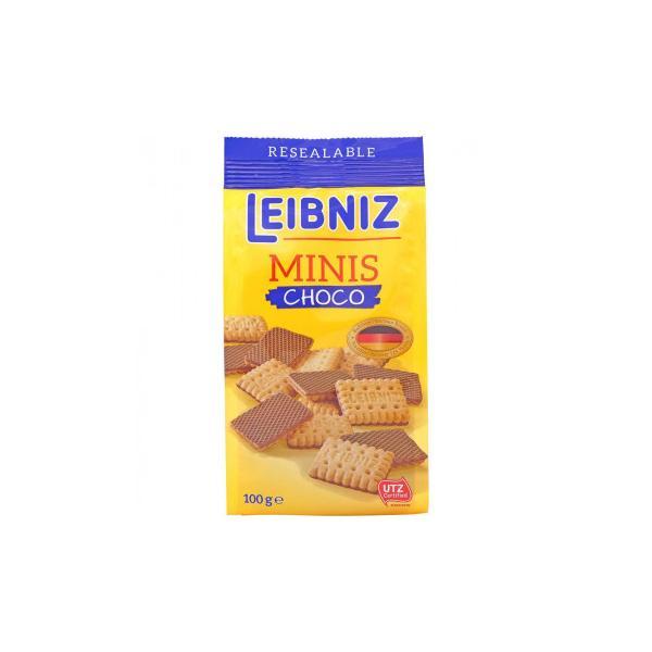 (代引不可) (同梱不可)バールセン ビスケット ライプニッツ ミニーズチョコ 100g 24セット