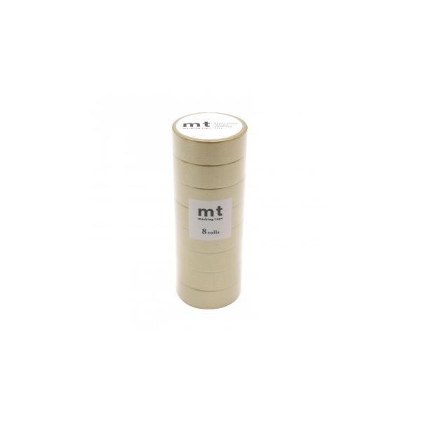 (同梱不可)mt マスキングテープ 8P 金 幅15mm×7m 同色8巻パック MT08P205R