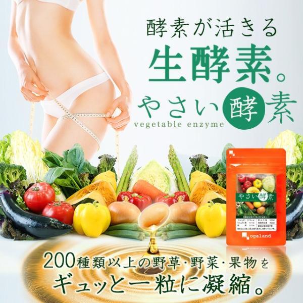 やさい酵素 ダイエット サプリメント サプリ ダイエットサプリ 約1ヶ月分 お1人様2個まで oga 02