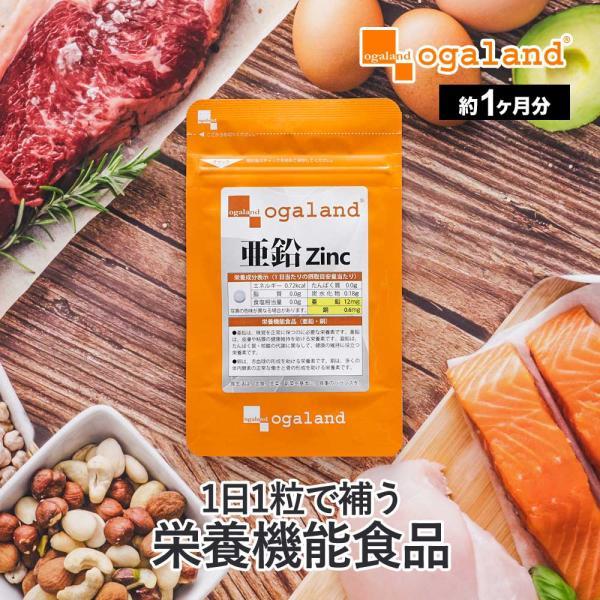 亜鉛 栄養機能食品 必須ミネラル サプリメント サプリ 男性 女性 の元気に 銅 約1ヶ月分 送料無料_ZRB|oga