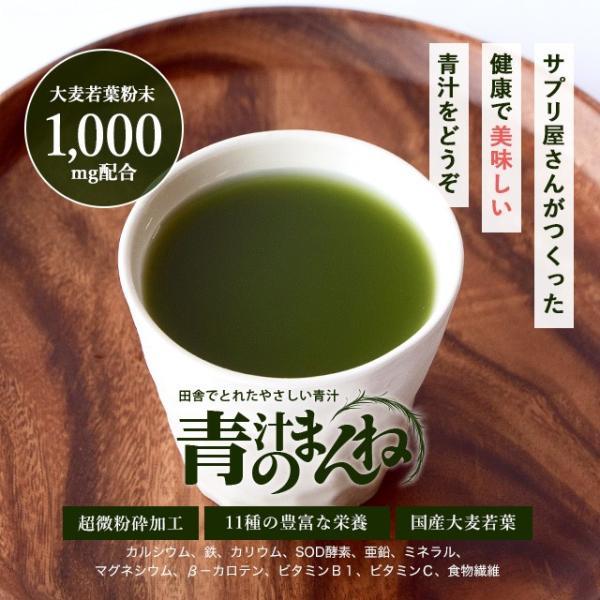 オーガランドの濃い青汁 大麦若葉 食物繊維 難消化性 デキストリン クロロフィル カテキン 30包|oga|03