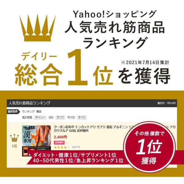 トンカットアリ サプリ 亜鉛 アルギニン シトルリン オルニチン マムシ 赤ガウクルア アカガウクルア サプリメント 60粒 送料無料|oga|03