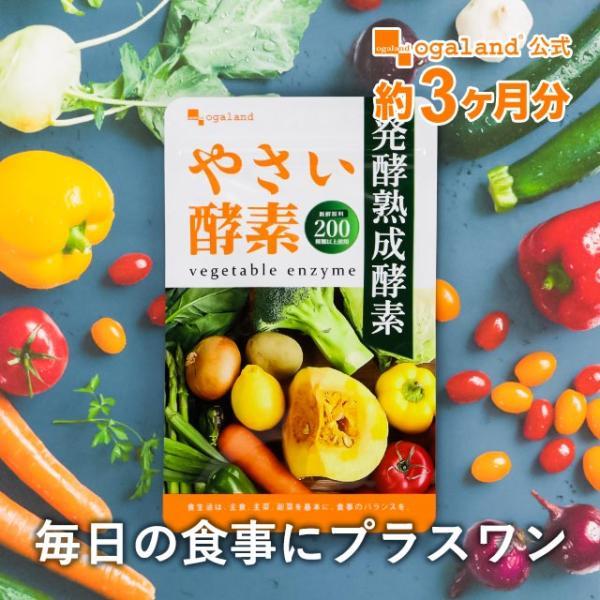 やさい酵素 約4ヶ月分 今だけ増量中 ダイエットサプリ 野菜 野草 サプリ サプリメント 送料無料|oga