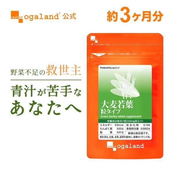 大麦若葉 サプリ ケール ゴーヤ 緑茶末 ミネラル カルシウム 食物繊維 ビタミン 野菜不足 が手軽に補給できる 青汁 サプリメント 約3ヶ月分 oga