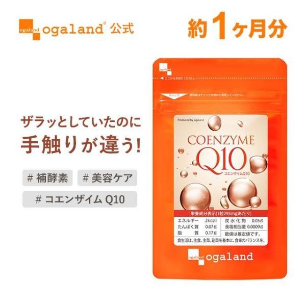 Q10 サプリ コエンザイムQ10 補酵素 エイジングケア 燃焼サポート サプリメント 約1ヶ月分|oga