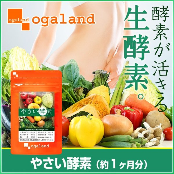 酵素 サプリ やさい酵素 ダイエット オリゴ糖 植物発酵 濃縮酵素 200種の栄養 サプリメント 約1ヶ月分 oga