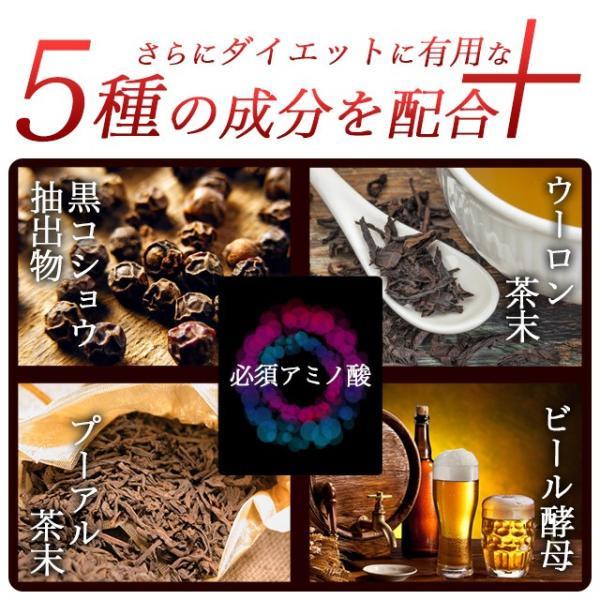 カプサイシン サプリ ダイエット 燃焼 プーアール茶末 ウーロン茶末 黒コショウ抽出物も配合 サプリメント 約1ヶ月分|oga|04
