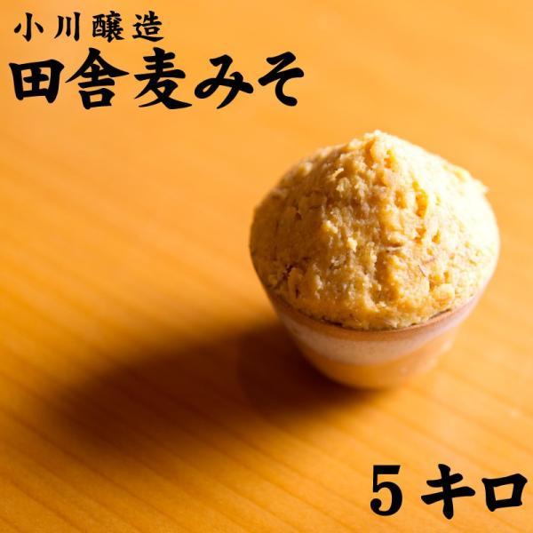 小川醸造 国産麦使用 麦みそ 5kg 鹿児島県長島町