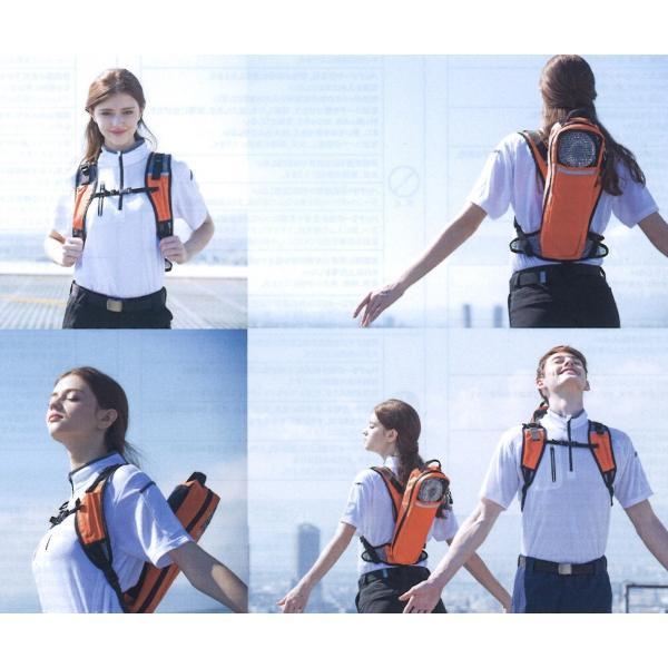 熱中症対策 扇風機 リュック ポータブル ファン ハイパワー アイトス 空調服|ogawamata|03