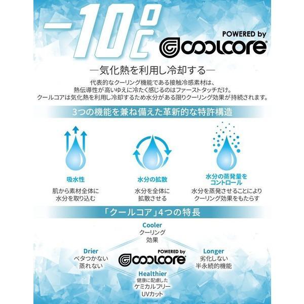 冷感 インナーシャツ クールコア 半袖 夏 Tシャツ UVカット 吸汗速乾 メンズ レディース|ogawamata|02
