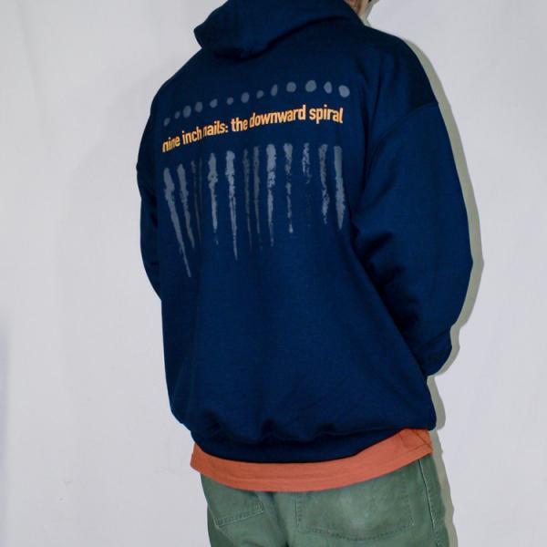 NINE INCH NAILS「THE DOWNWARD SPIRAL」ナインインチネイルズ フーディー バンドTシャツ インダストリアル オルタナ 90s 裏起毛|oguoy|11