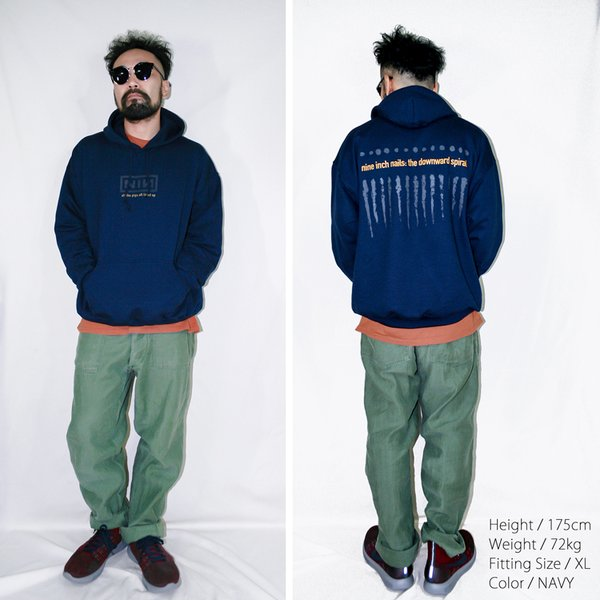 NINE INCH NAILS「THE DOWNWARD SPIRAL」ナインインチネイルズ フーディー バンドTシャツ インダストリアル オルタナ 90s 裏起毛|oguoy|12