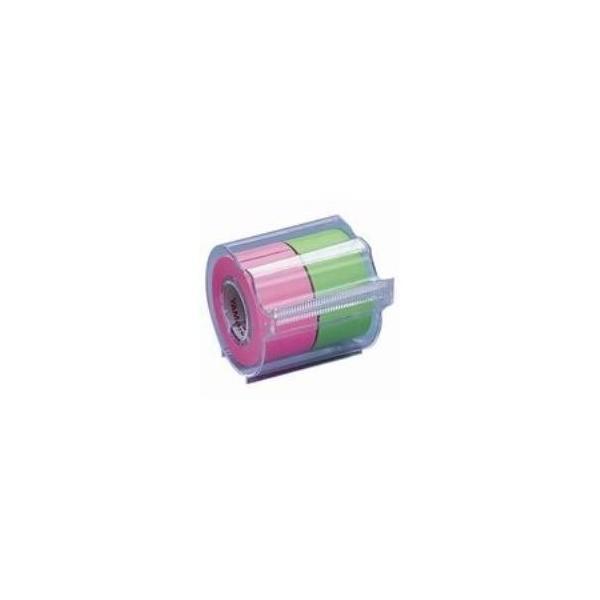 (まとめ)ヤマト メモックロールテープ 蛍光 NORK-25CH6B〔×10セット〕