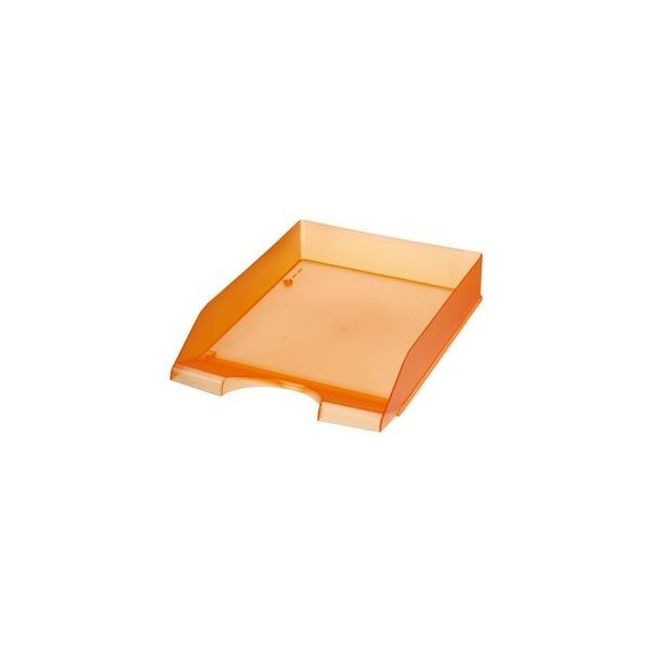 (まとめ) クルーズ スケルトンカラーレタートレー A4タテ オレンジ LT-500OR 1個 〔×10セット〕