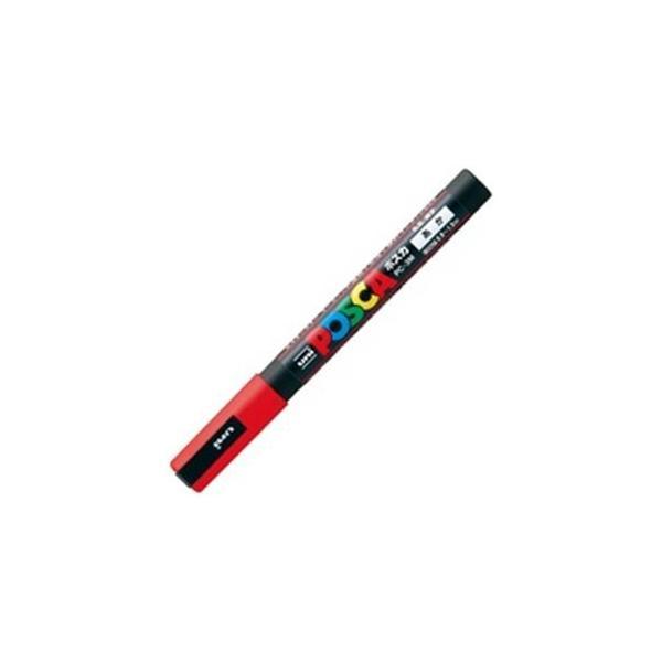 (業務用200セット) 三菱鉛筆 ポスカ/POP用マーカー 〔細字/赤〕 水性インク PC-3M.15