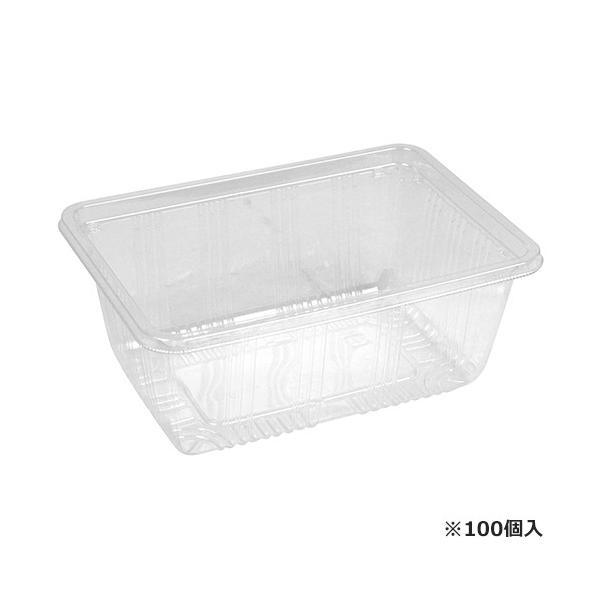 フードパック 業務用 プラスチック エフピコチューパ (成形品 野菜・果実 青果物容器) (100個入) 外寸:172×122×70mm