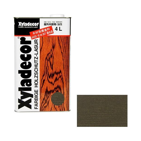 ウッドデッキ 防腐剤 木部の下塗り 色ムラ防止 大阪ガスケミカル・キシラデコール 4L ・110オリーブ