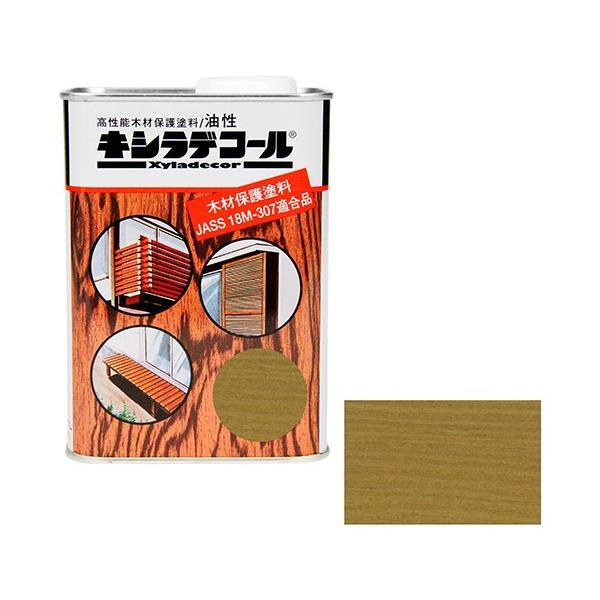 ウッドデッキ 防腐剤 木部の下塗り 色ムラ防止 大阪ガスケミカル・キシラデコール 0.7L ・115スプルース