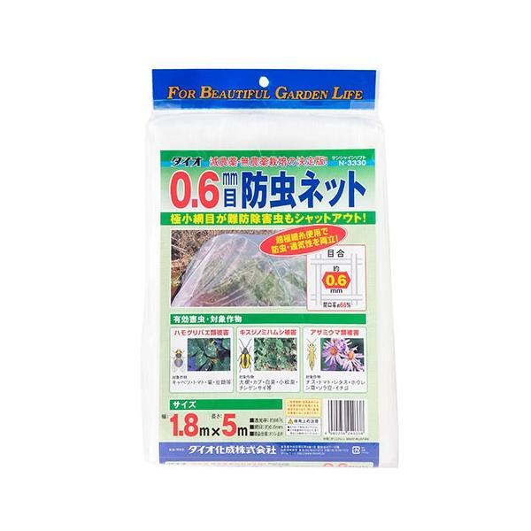 防虫ネット 農業用防虫ネット ダイオ化成 目合0.6mm 幅1.8×5m 透明色 トンネル栽培 べたがけ栽培