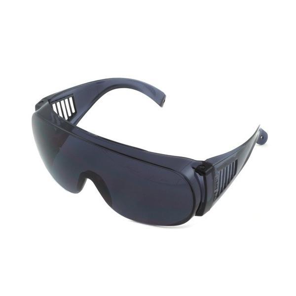 安全メガネ 防塵メガネ トーヨー・防塵メガネ 紫外線99%カット防塵メガネ レンズ:スモーク 保護メガネ 防塵ゴーグル 1370-S