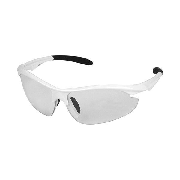 サングラス/ガーデングラス 園芸 農作業 ガーデニング UVカット おしゃれ 白色 レンズカラー:クリア