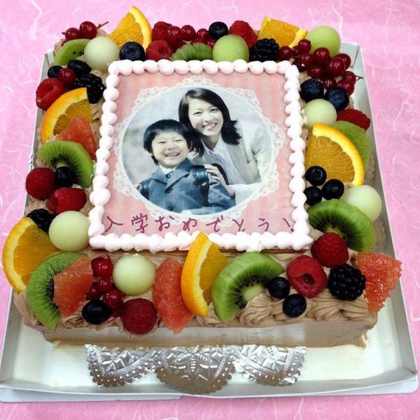 生チョコレートケーキ バースデーケーキ お誕生日 パーティー 記念日 サプライズ(四角)6号
