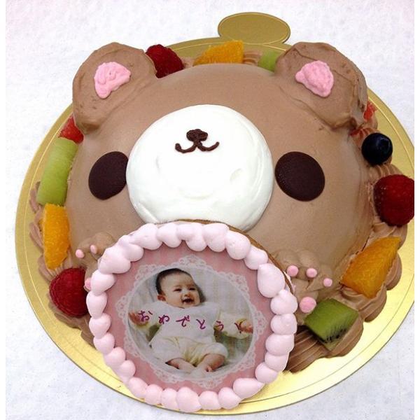 写真ケーキ スイートベアー くま ケーキ バースデーケーキ お誕生日 パーティー 記念日 サプライズ 生チョコレート7号