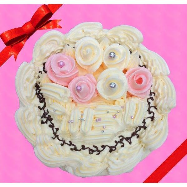 母の日に最適!バタークリームケーキ♪5号