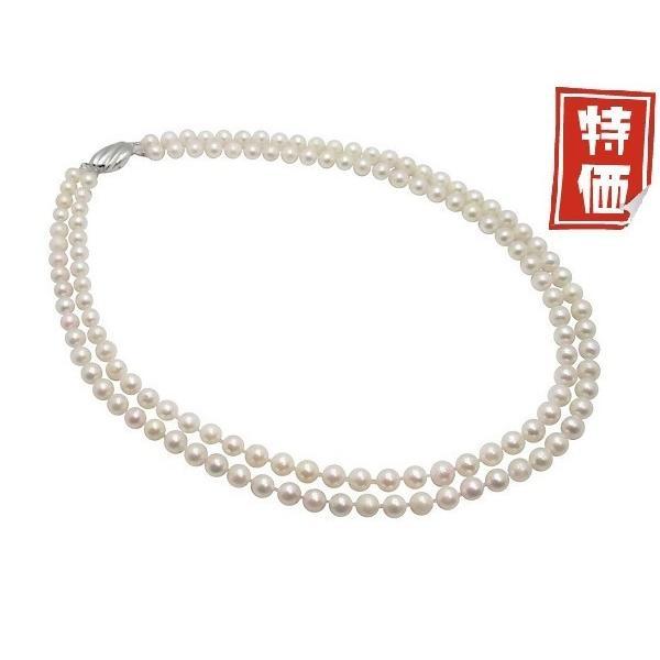 あこや 真珠 本真珠 アコヤ真珠 パール 二連 ネックレス ホワイト 6.0-6.5mm 入学式 卒業式 冠婚葬祭 フォーマル カジュアル 結婚式 パーティ