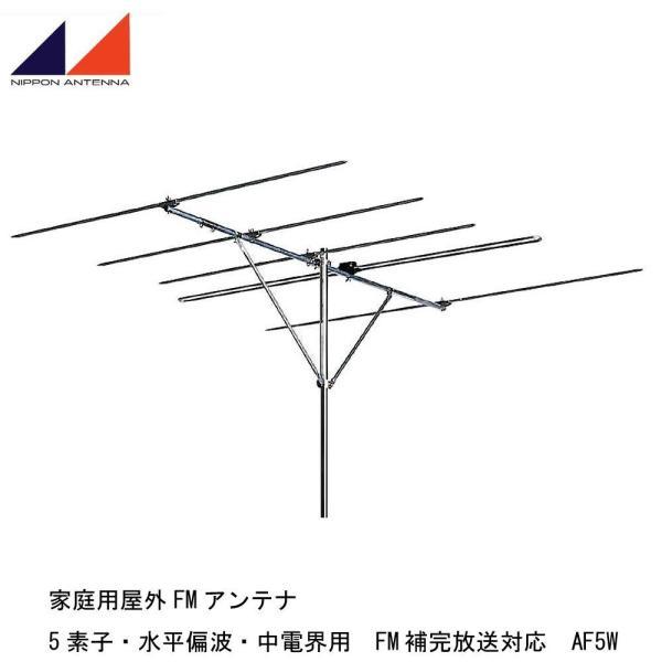 日本アンテナ 家庭用屋外FMアンテナ 5素子・水平偏波・中電界用 FM補完放送対応 AF5W