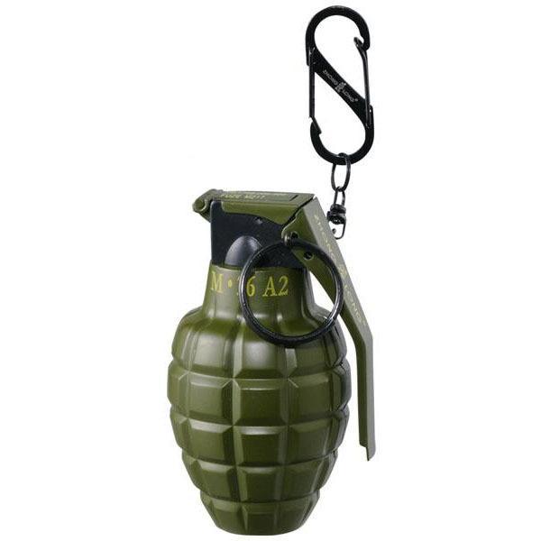 爆弾 手榴弾 携帯 注入式 ミリタリー サバイバル カラビナ おしゃれ 旅行 ユニーク グレネード型ターボライター カーキ 71390022 同梱・代引不可