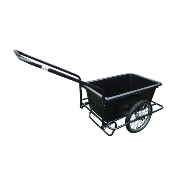 キャリーカート 運搬 コンパクト 農作物 台車 90L 組立式 スチール バスケット ゴミ出し ミニリヤカー ノーパンクタイヤ仕様 TC-2025 同梱・代引不可