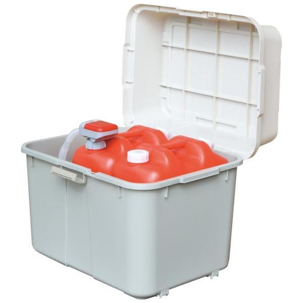 灯油タンク ポリタンク収納 コンテナ 収納ボックス 70l 屋外収納 収納ケース ワイドストッカー 収納用品 日本製 スペースボックス キャスター付き 620サイズ