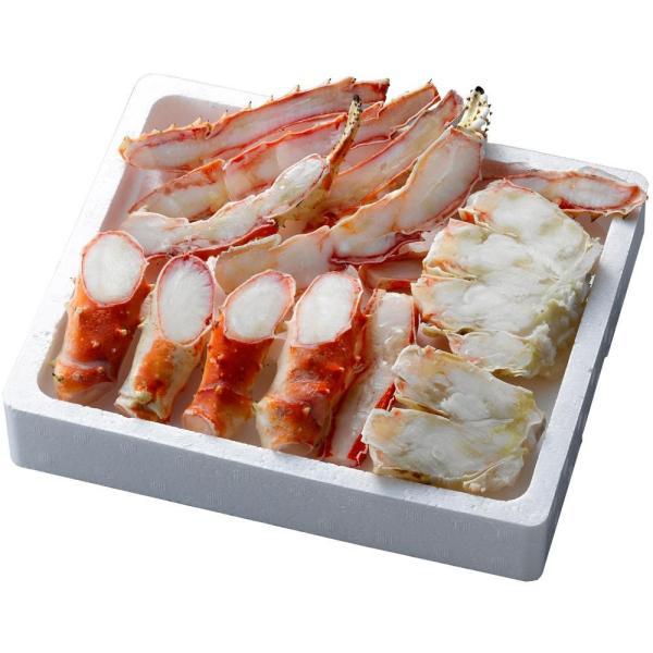 海鮮 材料 ギフト お土産 グルメ かに酢付 蟹 プレゼント 食材 冷凍 ボイルたらばがに笹切 TSBC080 同梱・代引不可