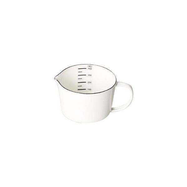 ホワイト 白 料理 調理器具 クッキング 台所 おしゃれ はかり パール金属 ブランキッチン ホーローメジャーカップ400mL HB-4434 同梱・代引不可