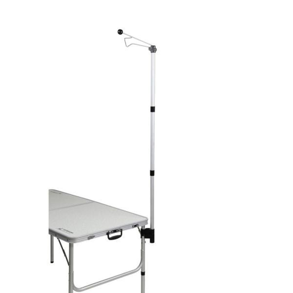 コンパクト 組み立て簡単 ライト バーベキュー 夜 レジャー 高さ調節 照明 CAPTAIN STAG キャプテンスタッグ テーブル用 アタッチランタンハンガー UC-0541 同梱