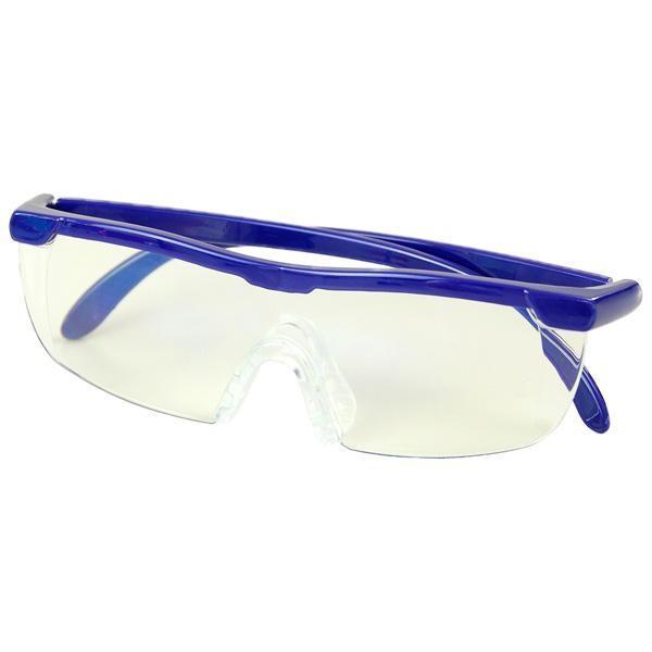 1.6倍 老眼鏡 拡大鏡 パソコン 眼鏡 ハンズフリー ポーチ付き ブルーライト WETECH ブルーライトカット メガネ型ルーペ WJ-8069 同梱・代引不可