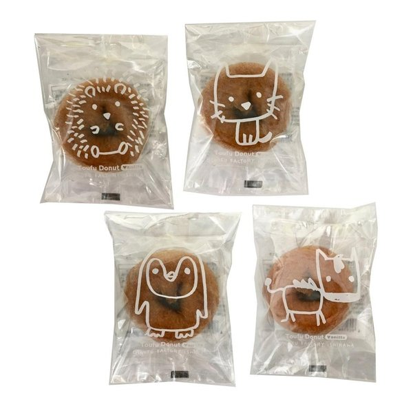 おやつ スイーツ スウィーツ 国産大豆 食品 洋菓子 豆腐 お菓子 どうぶつ とうふドーナツ バニラ 1P(30袋) 同梱・代引不可