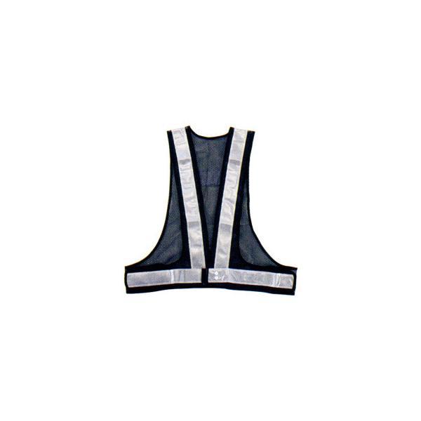 勝星 保安用品 安全ベスト(5cm巾) KA-340 紺×シルバー 同梱・代引不可