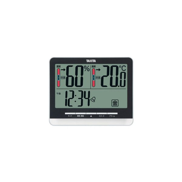 TANITA タニタ デジタル温湿度計 TT-538BK 同梱・代引不可